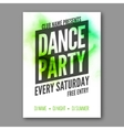 dance party poster template night party vector image