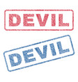devil textile stamps vector image vector image