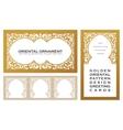 Eastern set gold line frames for design template vector image vector image