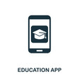 education app icon symbol creative sign from vector image