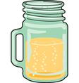 Glass mug vector image vector image