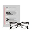 glasses document coding web development vector image vector image