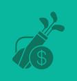 golf equipment shop glyph color icon vector image vector image