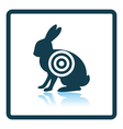 Hare silhouette with target icon vector image vector image