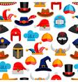 Headwear Seamless Pattern vector image