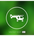 Helicopter ambulance icon medical air vector image vector image