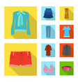 isolated object of woman and clothing logo set of vector image vector image