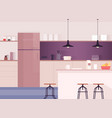 kitchen interior comfortable dining-room kitchen vector image