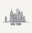 lines new york copy vector image vector image
