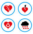 love troubles rounded icons vector image