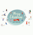 merry christmas winter outdoor activities vector image