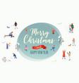 merry christmas winter outdoor activities vector image vector image