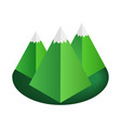 Mountain 3d isometric icon vector image vector image