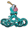 octopus the zombie vector image vector image