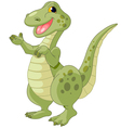 of cute presenting dinosaur vector image vector image