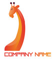 orange and red simple logo a giraffe on white vector image vector image