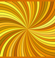 orange psychedelic geometrcial swirl stripe vector image vector image