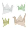 origami bird made from recycle paper design vector image