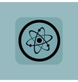 Pale blue atom sign vector image vector image