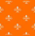 passport pattern orange vector image vector image