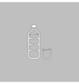 Plastic bottle computer symbol vector image