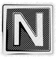 Polka Dot Font LETTER N vector image vector image