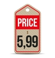 Price tag brown paper vector image vector image