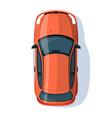 red sedan semi flat rgb color vector image