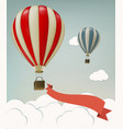 Retro background with colorful air balloons and vector image vector image