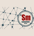 samarium chemical element vector image vector image