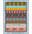 Seamless colorful geometric tribal vector image vector image