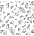seamless pattern hand drawn sketch roses leaves vector image