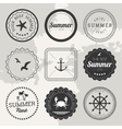 Set of 9 design summer elements frames borders vector image vector image