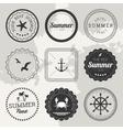 Set of 9 design summer elements frames borders vector image
