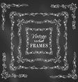 set of chalk vintage border frames vector image vector image