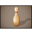 Single bowling pin with red stripes isolated vector image vector image