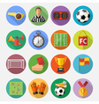 Soccer Flat Icon Set vector image vector image