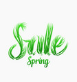 spring sale concept with grassy letters vector image