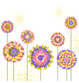 Springtime Colorful Hydrangea Flower Background vector image vector image