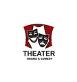 theatrical scene with masks icon vector image