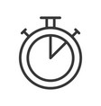time stop watch outline design editable stroke vector image