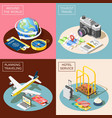 travel 2x2 isometric design concept vector image vector image