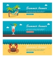 Travel and vacation banners vector image