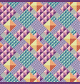 triangle convex abstract seamless pattern vector image