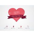 Valentines Day Infographic vector image vector image