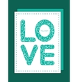 white on green alphabet letters love text vector image