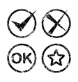 Set of grunge style icons vector image