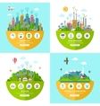 Set of flat ecology concept vector image