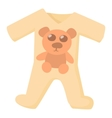 Baby rompers icon cartoon style vector image