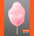 realistic cotton candy transparent background vector image